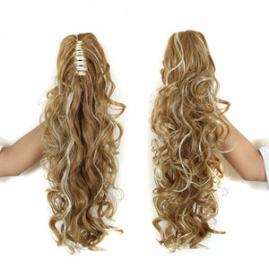 "20"" Long Claw Clip Drawstring Ponytail Fake Hair Extensions False Hair Pony Tails Horse Tress Curly Synthetic Hairpieces Pieces - Gifts Leads"