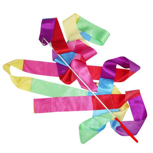 4M Gym Dance Ribbon Rhythmic Art Gymnastic Streamer Twirling Rod Stick 11 Colors
