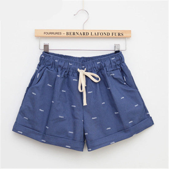 2016 Fashion The New Women leisure shorts in summer / woman's elastic waist lacing sport shorts / above knee mini shorts