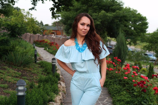 2017 Fashion Jumpsuit Overalls Rompers Womens Jumpsuit Pink Blue Sexy Strapless Bodysuit Combinaison Femme