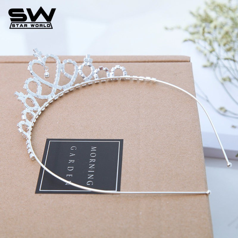 New Cute Children Kids Girls Rhinestone Princess Hair Band Crown Headband tiara hair jewelry wedding accessories