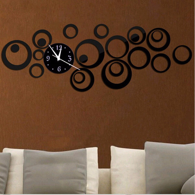 2016 New Quartz Wall Clock Modern Design Reloj De Pared Large Decorative Clocks 3d Diy Acrylic Mirror Living Room Free Shipping
