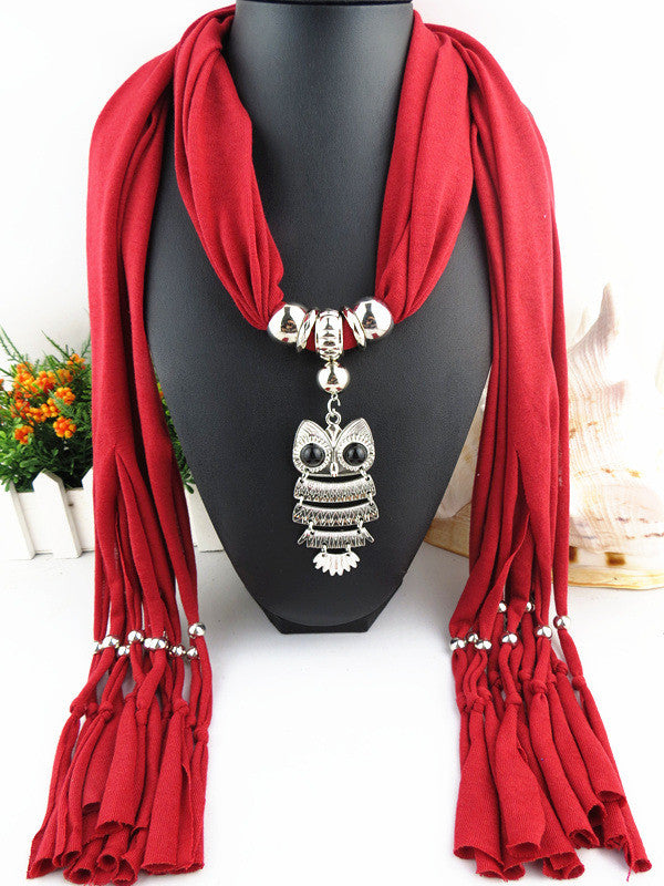 2016 New Arrival Charms Scarf jewellery Pendant Scarf Jewelry Scarves Necklace Scarf Free Shipping