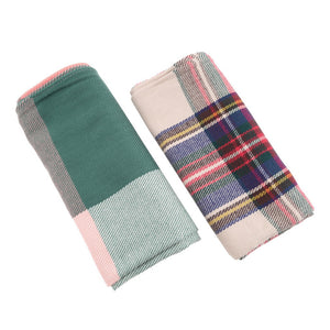 Women Winter Blanket Oversized Tartan Scarf Plaid Checked Wrap Shawl Bloggers Favourite