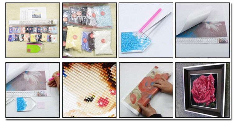 New Diy Diamond painting kits stone peacock home Decoration cross stitch kits baby of diamond embroidery