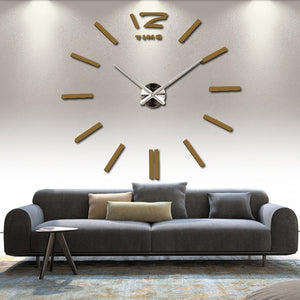 2016 new arrival 3d home decor quartz diy wall clock clocks horloge watch living room metal Acrylic mirror 20 inch free shipping