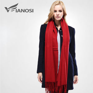 2016 New Luxury Scarf Winter Women Scarf Female Wool Solid Scarf Best Quality Pashmina Studios Tassels Women Wraps