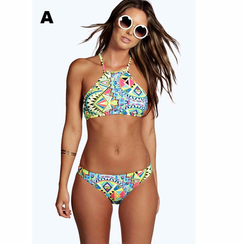 2016 Summer Style Floral Lady Brazilian Swimsuit Bathing Suit Female Print Swimwear Women's Swimming Suit Women Bikini Set