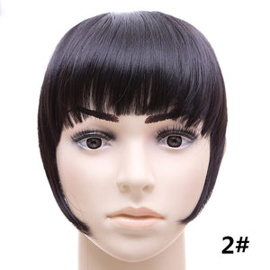 Synthetic Hair Side symmetry Fringe Bangs 2Clips Clip In Hair Extensions 30g Black Brown Blonde 18Colors Fashion Hairpieces