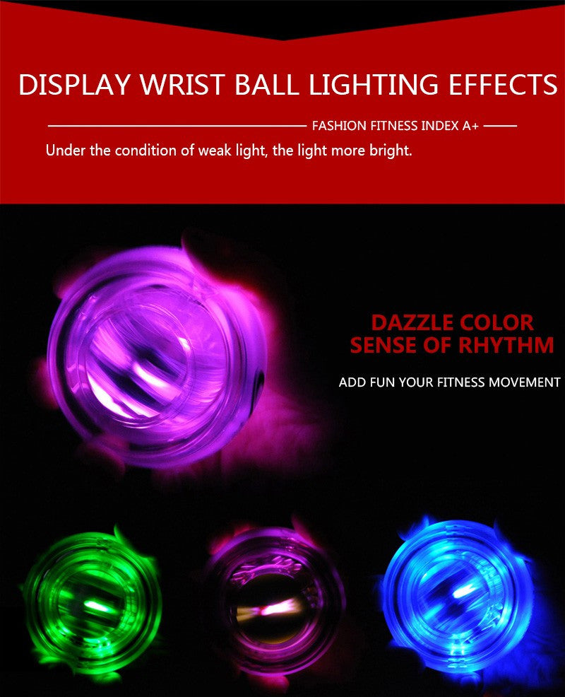12000 RPMS Gyroscope PowerBall Gyro Power Ball Wrist Arm Exercise Strengthener LED digital Force Ball with Speed Meter Counter