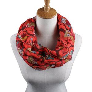 Best seller free shipping Women Ladies fashion soft Owl Pattern Print Scarf Warm Wrap Shawl