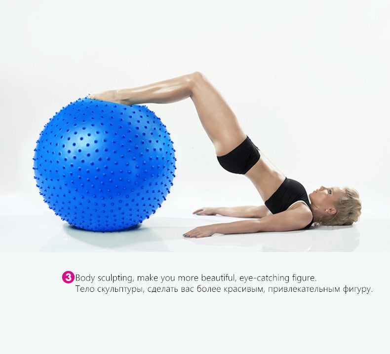 Brand Stylish 65CM Exercise Fitness GYM Barbed Point Massage Yoga Ball Pilates ball health non-toxic fresh Exercise Accessories