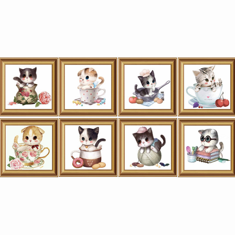 2016 New Arrival! 3d Diamond Painting Animals Icon Embroidery Mosaic Handmade Set Of Cartoon For Home Decoration Cat