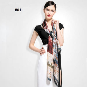 2016 European style Brand Scarves and Shawls for Women Fashion Design 100% silk Scarf Artistic Style Bandana
