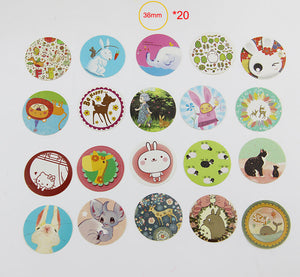 38pcs/set, 3 Set DIY Kawaii Girl Cute Animal Paper Sticker Creative Vintage Romantic Love Gift Diary Decor Scrapbooking