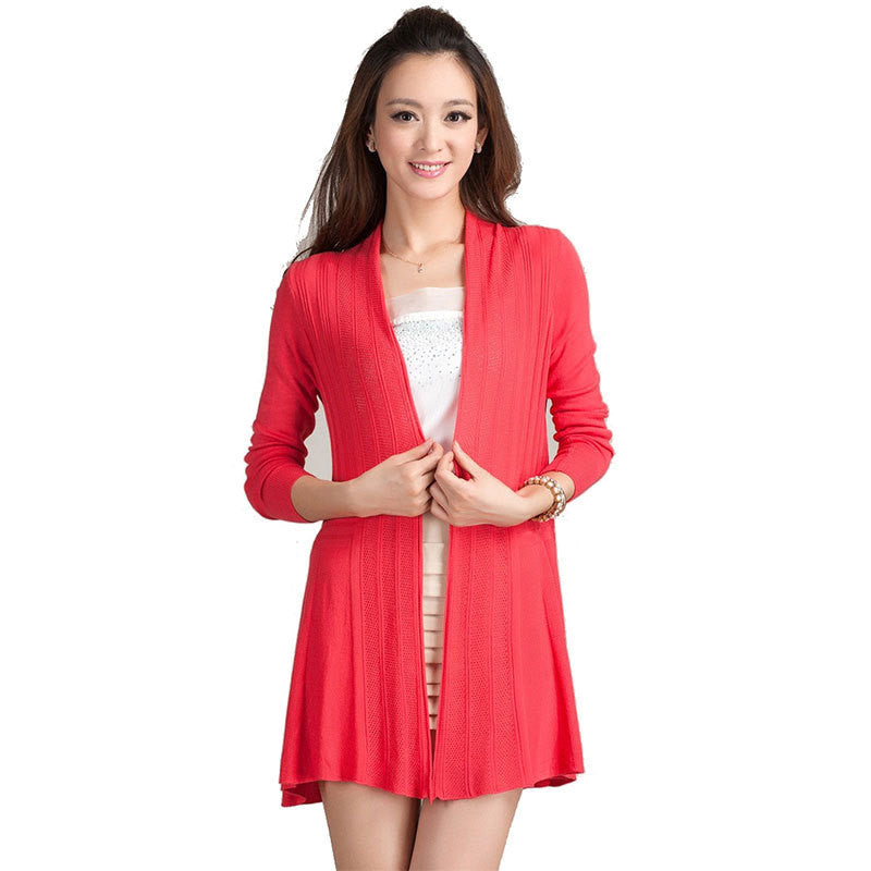 2016 Summer Cardigan Women Candy Color Knitted Blouse Female Long Sleeve Sun Protection Clothing Fashion Tops Feminino