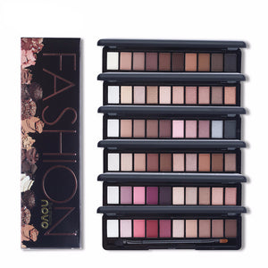 Shimmer Matte Natural Fashion Eye Shadow Make Up Light Eyeshadow Cosmetics Set With Brush 10 Colors Eye Makeup Palette 1PC