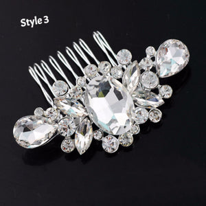 New Fashion Pearl Crystal Bridal Rhinestone Hair Clip Claw Comb Pin For Women Barrette Wedding Headdress Girls Hair Accessories