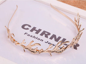 2016 New  Korean Style Fashion Leaf Hairbands Hair Accessories Alloy Trendy Jewelry