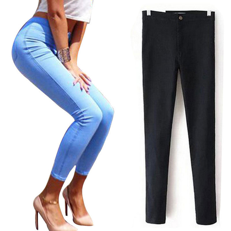 Stretch Jeans For Women Elastic Autumn Jeans Woman Skinny Trousers High Waist Women's Jeans Plus Size Femme Black Women's Pants