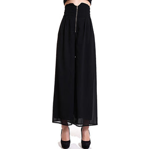New Arrived Brand Casual Loose Women's Wide Leg Pants Black Long Pants Palazzo Loose Trousers S/M/L Plus Size