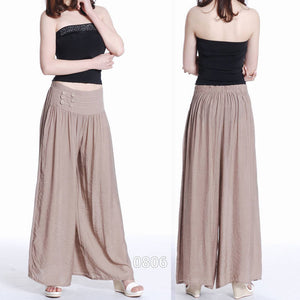 Low Price Hot Women Loose Culottes Elastic Waist Dance Pant Sweat Pants Trouser