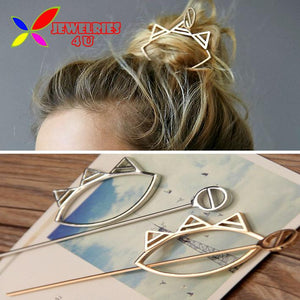 2016 New Hot Fashion Trendy gold silver metal alloy crown hair clasp jewelry hair sticks for women accessories varas de cabelo