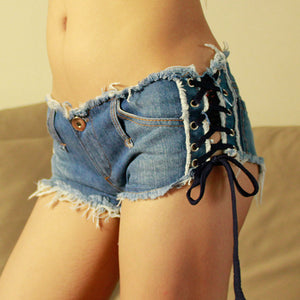 2016 New Sexy Denim Shorts Women Low Waist Short Women Girl Jeans Fashion