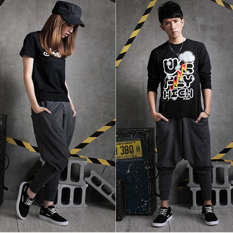 Vogue Men Girl Boy Unisex Harem Baggy Pants Hip Hop Drop Crotch Dance Pants M-XL