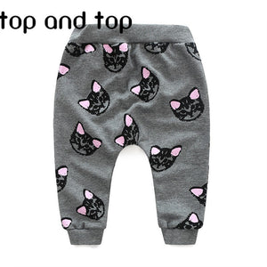 2016 Hello Kitty girls clothing sets kids clothes little cat baby girl and boy long sleeve cotton set