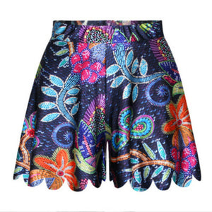 New Fashion Flowers Printed Sexy Fashion Comfortable Shorts Skirts Summer Style Women Casual Beach Gorgeous Garden Shorties