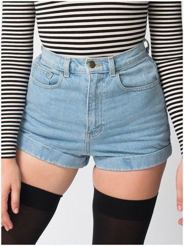 2016 New  5 color  Womens Hot Retro Girls Denim High Waist Flange Blue Jean Shorts Hot short