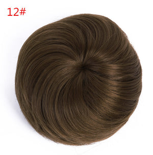1PC Chignon Hair Styling Synthetic Hair Bun Updos Extension Donut Roller Hair Chignons Bun Hair Chignon For Long Hair - Gifts Leads