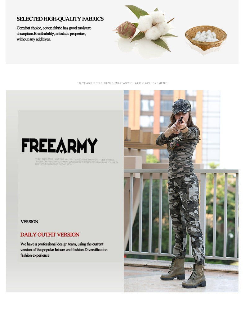 New Design Summer Casual Pants Military Camouflage Pants Women High Quality Outdoor Sports Slim Fit Joggers For Women