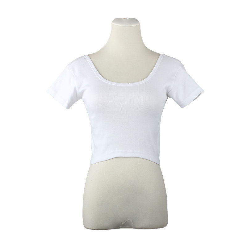 New Short Sleeves Tops Sexy Women Basic Tees Cropped Tops Fashion Slim Brand Fitting Tank Tops Corset Clubwear Blusa