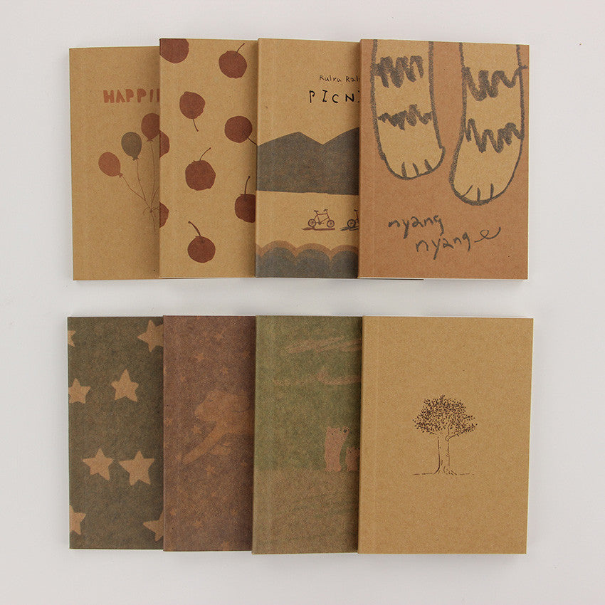 3pcs Wholesale Stationery Vintage Pastel Drawing Pastels Pockets Notedpad Lovely Notebook 8 Styles Pocket Book