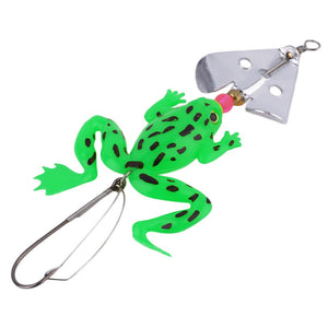 "4pc new Rubber Frog Soft Fishing Lures Bass CrankBait Tackle 9cm/3.54"" free shipping"
