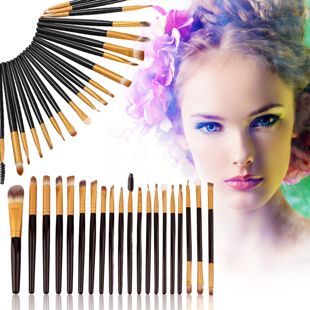 20pcs Makeup Brush Set Professional Foundation Eyeshadow Eyeliner Lip Cosmetic Brushes Kit Beauty Tools brochas maquillaje