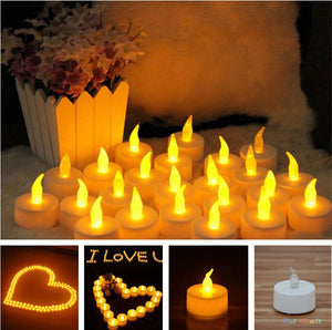 1Pcs  LED Tea Candle Battery Light Christmas Fairy Lights Party Wedding Safety Decoration Luces Decorativas Guirlande Lumineuse Led