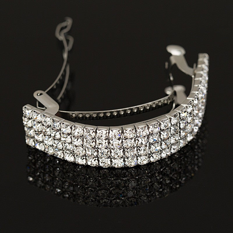 2016 NEW Girls Fashion Chic Crystal Rhinestone Moon Hair Clip Bang Clip Hair pins Hearwear Silver wedding hair accessories
