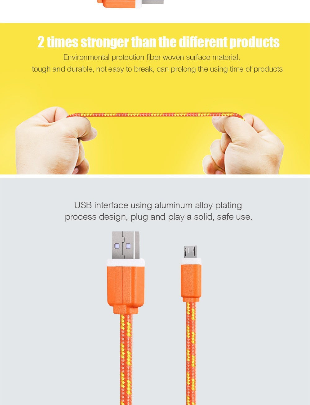 1M/2M/3M Fabric Nylon Braided Micro USB Cable Charger Data Sync USB Cord Wire For Samsung Galaxy Xiaomi HTC 8 Colors Available