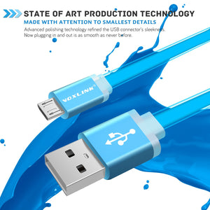 0.5M/1M/2M/3M Universal Flat Noodle Micro USB Charger Sync Data Cable for Android Phones
