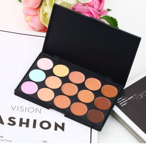 1pc New Professional 15 Color Make Up Cream Camouflage Concealer Palette Hot Selling