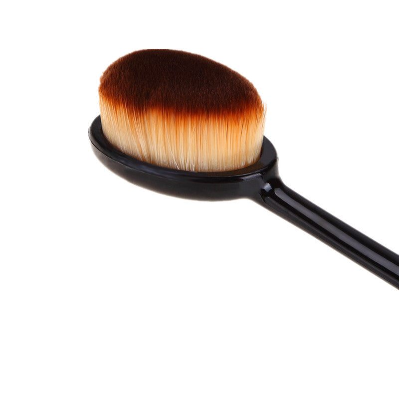 Pro Cosmetic Makeup Face Powder Blush BB cream Toothbrush Curve oval shaped Foundation liquid puff Brush