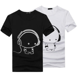 New Summer Women Ladies Casual Cute Cartoon Print Funny T Shirt Soft Cotton Couple Clothes Best Friends Tshirt Cheap Z1