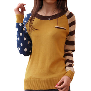 4 Candy Color New 2016 O-Neck Autumn Women Sweater Long Sleeve Pullovers Knitting Casual Sweaters pull femme sudaderas jumper