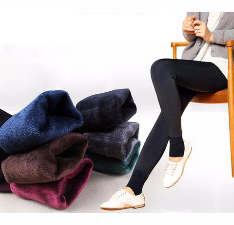 Autumn and winter fashion explosion models plus thick velvet warm seamlessly integrated inverted cashmere leggings