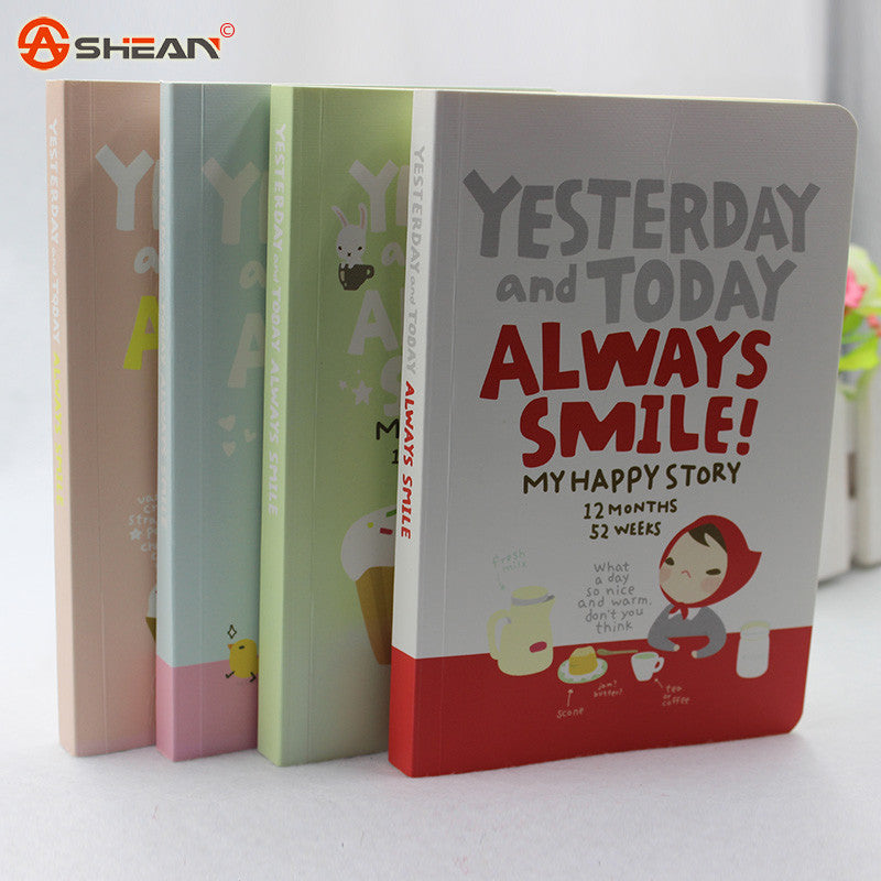 Cute Notebook Red Hat Girl Agenda Week Plan Diary Day Planner Journal Record Stationery Office School Supplies
