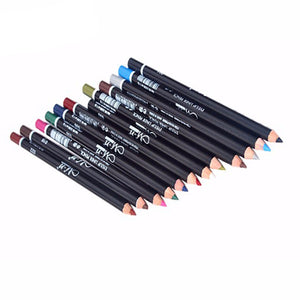12PCS/Lot Color/Black Make Up Beauty Pen Eyeliner Eye Liner Pencil Eyebrow Nice Cosmetics Eyes Makeup Stick Red Blue White Brown