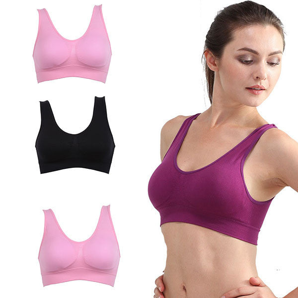 New Women Racerback Sexy Bra Women Seamless Vest Bra Tops Bra No Rims Adjustable Underwear S-3XL Wholesales